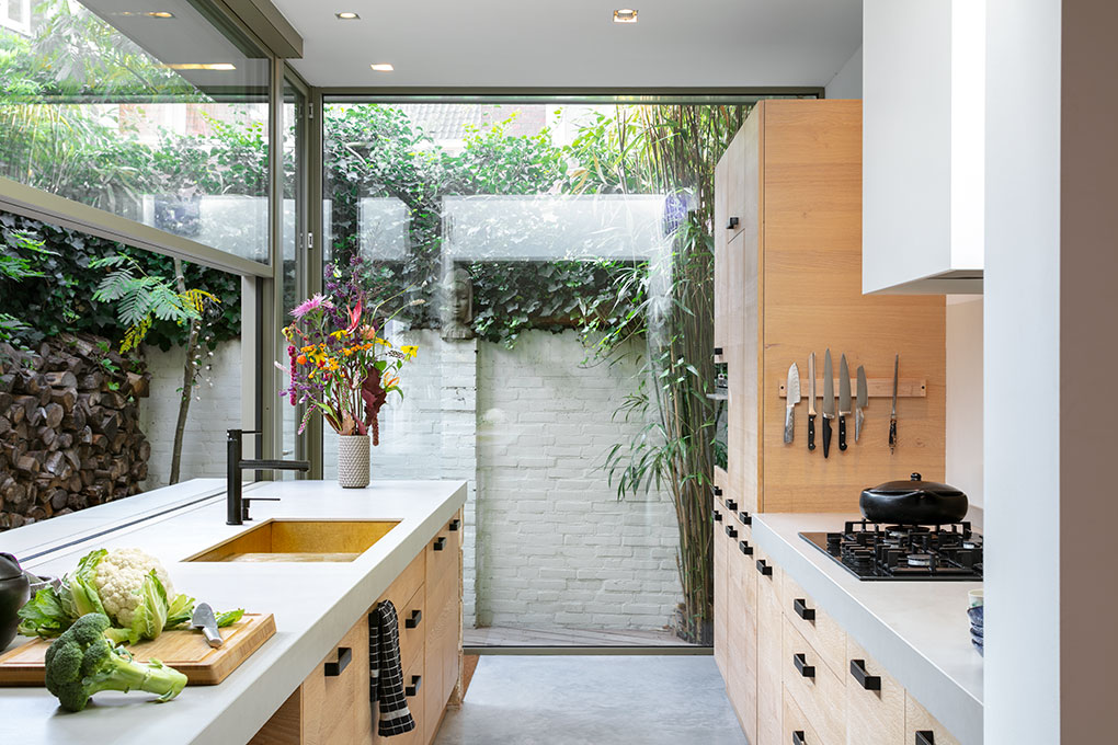indeling van keuken van aangebouwd aan 30'er jaren woning