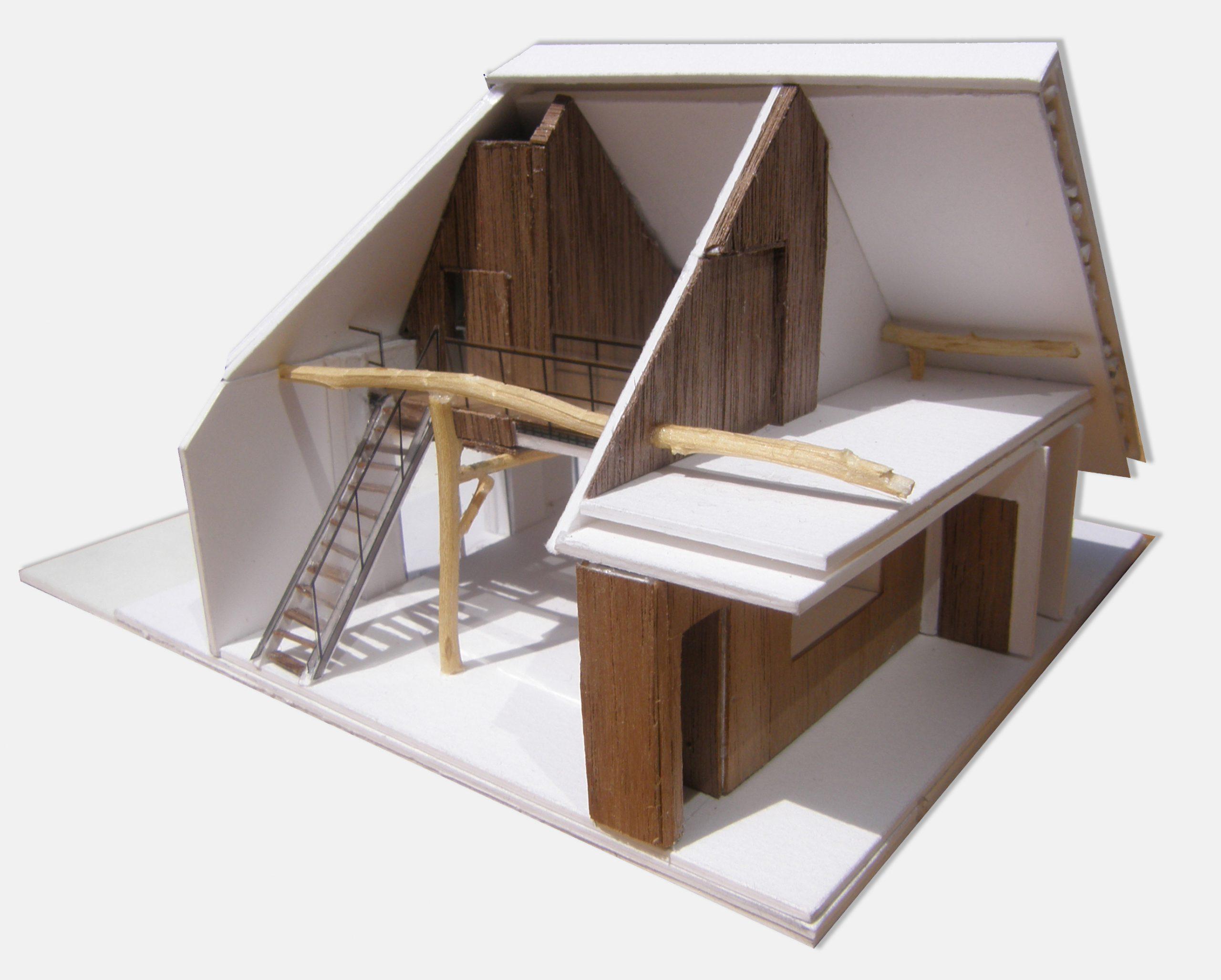Maquette ontwerp verbouwing boerderij